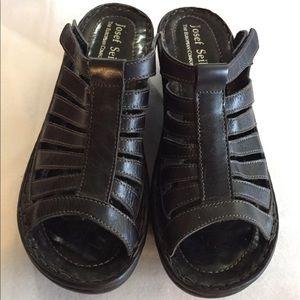 Josef Seibel leather slip-on sandals
